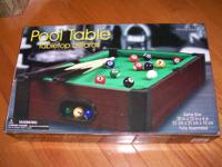 "Pool Table Tabletop Billiards PREMIER EDITION 20"" x 12"""