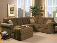 Westwood Sectional * Covered in a woven olive green