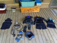 Scuba equipment and suits are all less than 6 years old