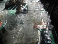 70TOTAL PIECES OF 1970s WEXFORD CUT CRYSTAL LOOK BY
