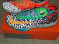"I have a pair of ""What The KD?"" 6 (size 12) for sale."
