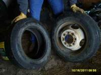 800-16.5 tires with one wheel...tread is still pretty