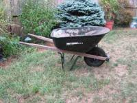 Wheel barrel - deep bucket - inflatable tire - 6 cubic