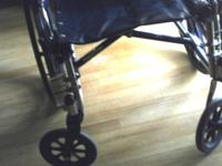 This wheel chair was only used one time. Great
