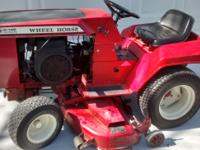 "Wheel Horse Lawn Tractor C-145 with 48"" mower. Manuals"