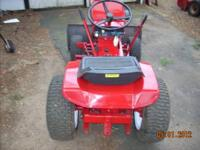 very nice wheel horse tractor with plow,8