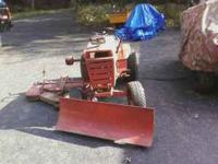 70's model Wheele Horse 800 special, comes with a plow