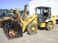 -1991 JCB wheel loader -perkins 4 cyl diesel -grapple