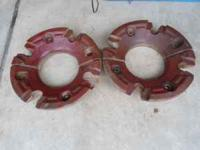 2 Sets of wheels weights for an International tractor.