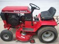 "NICE 10HP 38"" CUT WHEEL HORSE RIDING LAWN MOWER WITH"