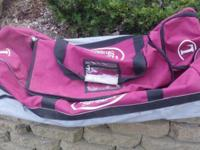 This is Louisville Slugger wheeled catchers bag. It was