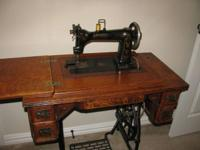 A turn of the century Wheeler sewing machine, owned by