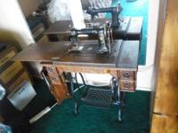 This is a Wheeler & Wilson model 9 treadle sewing