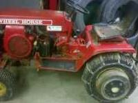 1970's wheelhorse C120 Lawn and Garden Tractor. Is in