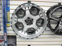 "NEW 20"" ATX JUSTICE WHEELS BLACK WITH MACHINE FACE &"