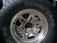 I just got new tires for my '95 4Runner stock rims and