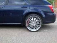22 in chrome wheel with inserts very nice no curbs call