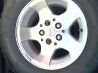 Jeep wheels. With lug nuts and locks. Not selling