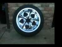 Set of 18 inch wheels on 245 45 18 tires.  Location: