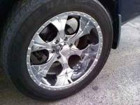 I HAVE 2 SETS ON WHEELS AND TIRES 20X10-=500.00 AND A