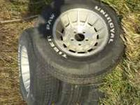 Wheels and tires from 78 chevy van,5x 5 bolt pattern.