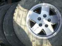 Wheels and tires off a 91 blazer, 4 wheel drive. Call