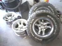 i have 4 wheels with 2 bfg mud terrain tires off a
