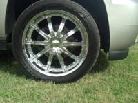 22 inch tires and wheels for sale off of Chevy