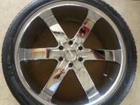 "I have for sale a made use of set of 24"" wheels and"