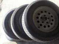 Set of tires with good tread for $250. If interested