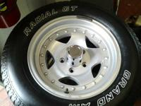 I have for sale a set of 4 wheels and tires. The wheels