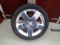 here it is a nice set of rims and tires rims are 17's