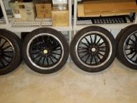 "Four 17"" rims with Michelin MXM Pilot tires included."