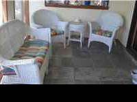 like new - includes cushions - has two chairs, love