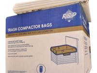 This 60-pack set of white plastic compactor bags fits