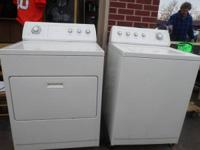 Whirlpool Washer & Dryer Collection.  Both White.