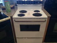 Whirlpool Black & White Range Stove Oven - USED