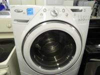WHITE WHIRLPOOL DUET FRONT LOAD WASHER W/BASE DRAWER