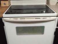 In almost new condition Whirlpool electric range. Is