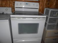 Used Whirlpool self-cleaning electric range for sale.