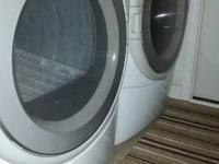 For sale is a matching LG washer clothes dryer front