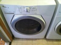 Front loader Whirlpool washing machine. Currently stops