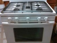 Selling a 5 burner Whirlpool gas cooking stove. The
