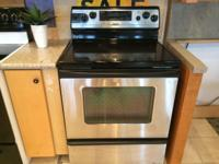 Whirlpool Gold Stainless Smooth Top Range Stove Oven -