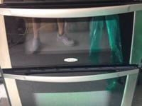 Side by side white Whirlpool fridge 68.5 inches height,