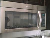 Over-the-range microwave in excellent condition. Came