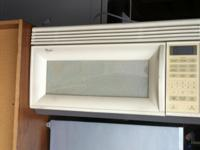 "Whirlpool Over The Stove Microwave $39 15""H x 30""W x"
