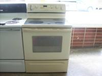 We have a almond glass top Whirlpool oven for sale we