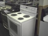 This is a USED Whirlpool electric coil top stove with