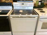 Whirlpool White Smooth Top Range Stove Oven - USED